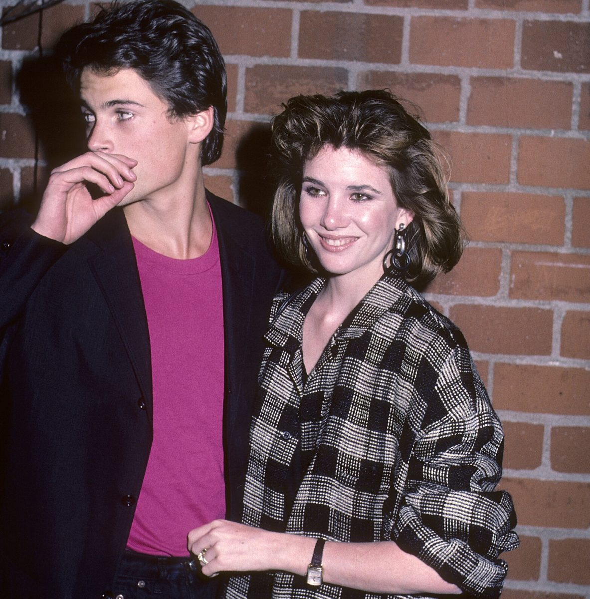 """Rob Lowe and Melissa Gilbert at """"The Hotel New Hampshire"""" West Hollywood Premiere on March 1, 1984"""