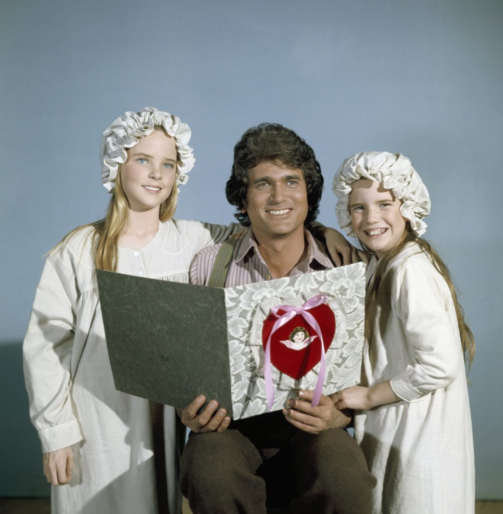 Melissa Sue Anderson as Mary Ingalls, Michael Landon as Charles Philip Ingalls, and Melissa Gilbert as Laura Ingalls on 'Little House on the Prairie'