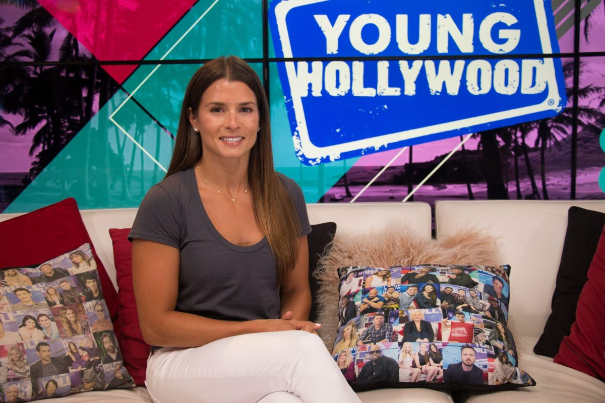 Danica Patrick visits the Young Hollywood Studio on July 17, 2018 in Los Angeles, California