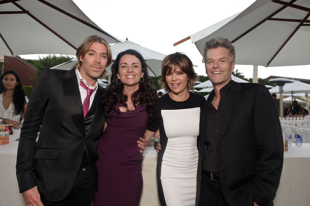 Celebrity hairstylist Chaz Dean, actress Jenni Pulos, actress Lisa Rinna and actor Harry Hamlin