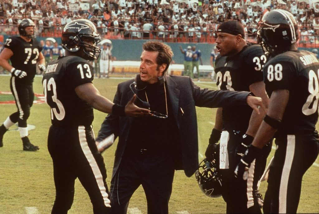Jamie Foxx, Al Pacino, and LL Cool J in 'Any Given Sunday'