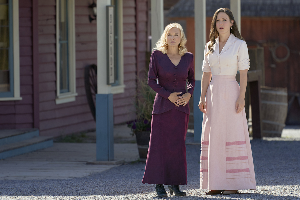 Helen and Elizabeth standing on the street in Hope Valley