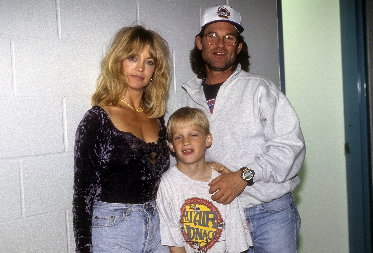 Wyatt Russell (center) with parents Goldie Hawn and Kurt Russell