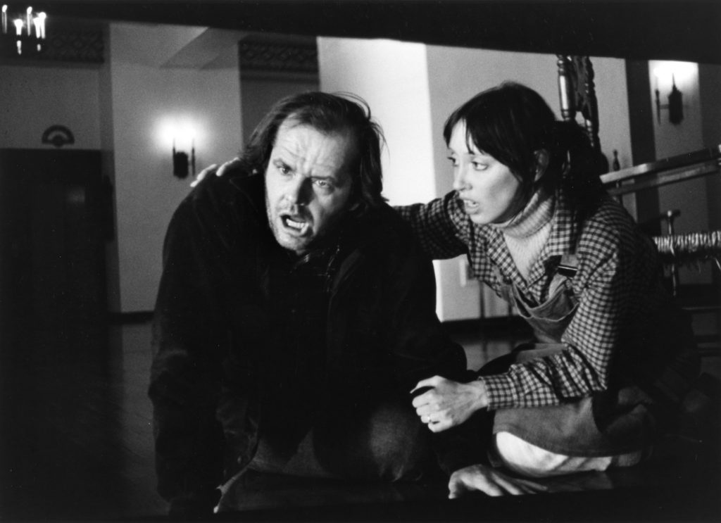 (L-R) Jack Nicholson and Shelley Duvall in a scene from the Warner Bros movie 'The Shining'