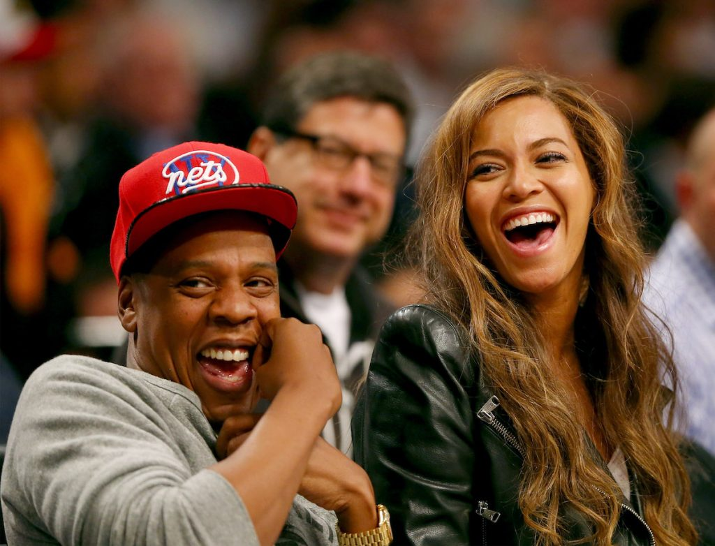 Beyonce and Jay-Z attend Game Six of the Eastern Conference Quarterfinal