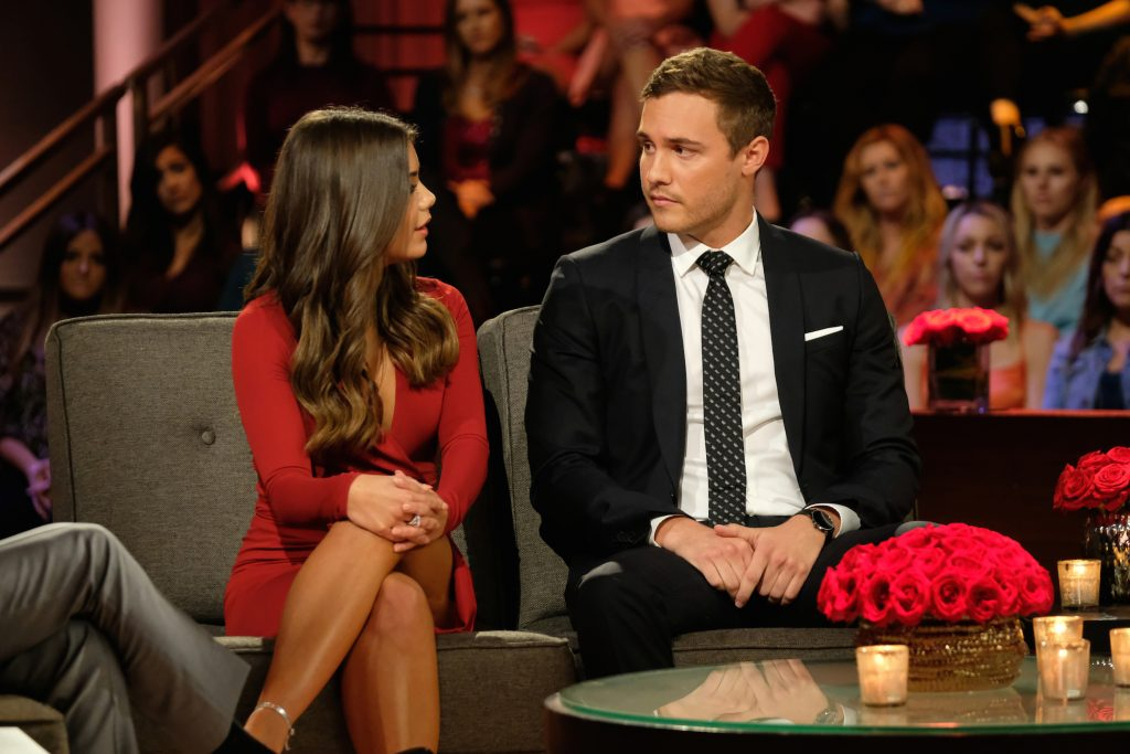 Pilot Pete and Hannah Ann Sluss discuss their relationship sitting next to each other at the end of 'The Bachelor'