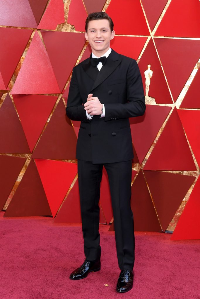 Cherry star Tom Holland at the 90th Academy Awards