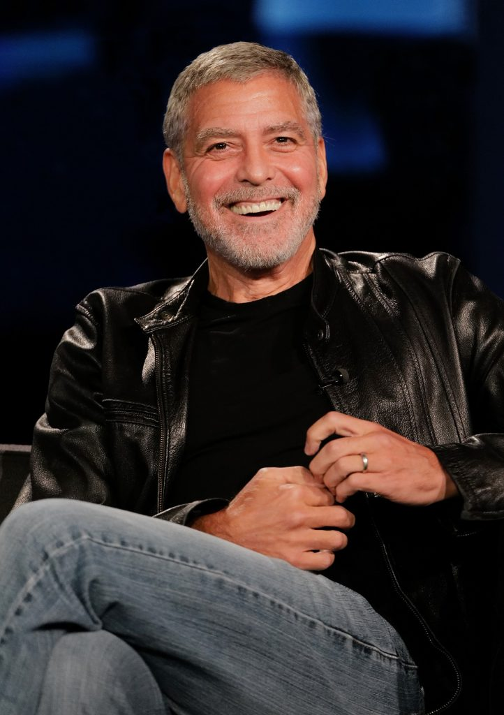 George Clooney dressed down on the set of 'Jimmy Kimmel Live!'