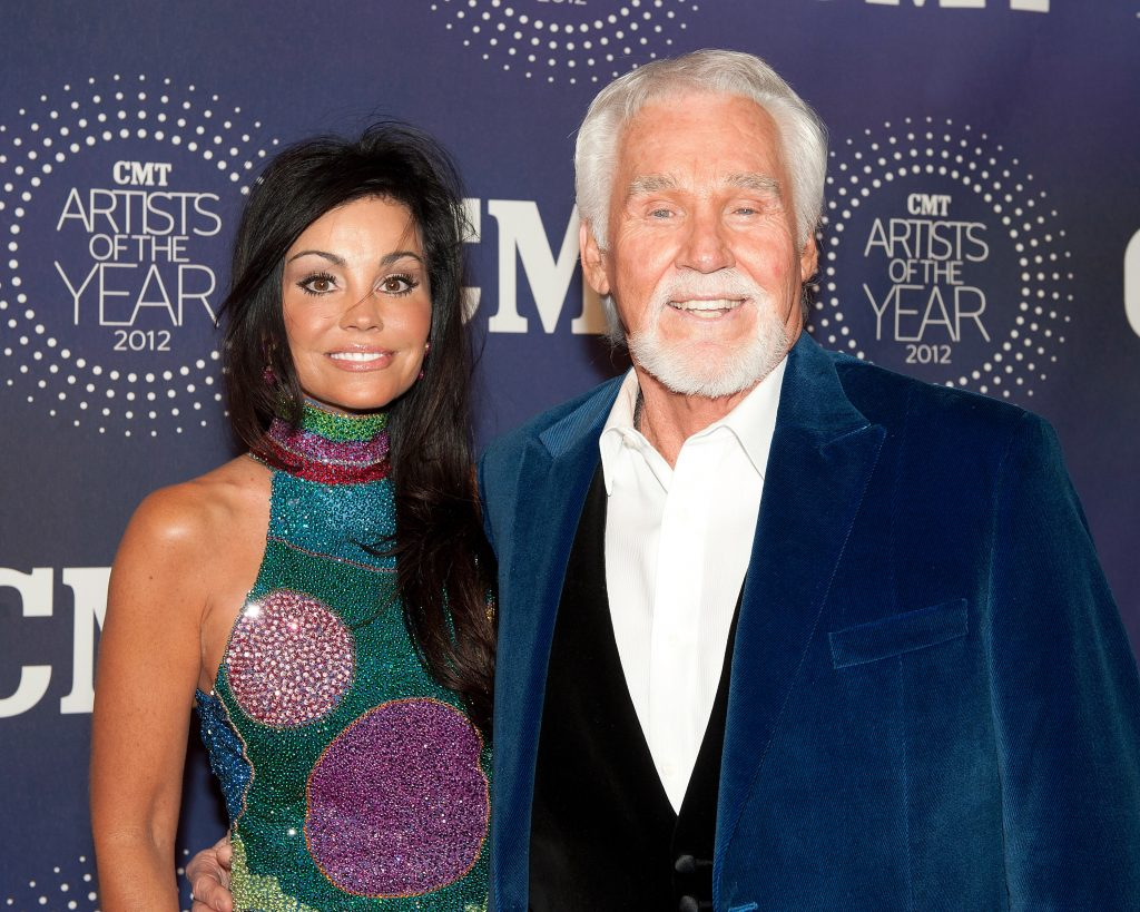 Kenny Rogers with his wife, Wanda Miller, in 2012