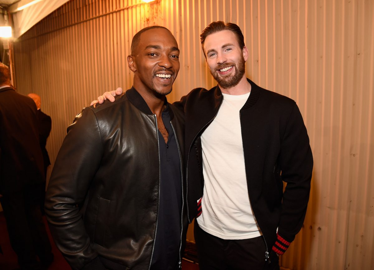 Anthony Mackie and Chris Evans