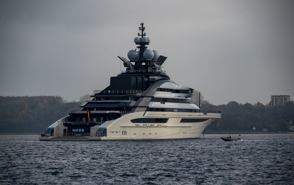 Superyacht Nord is comparable to the size of the yacht Jeff Bezos is building