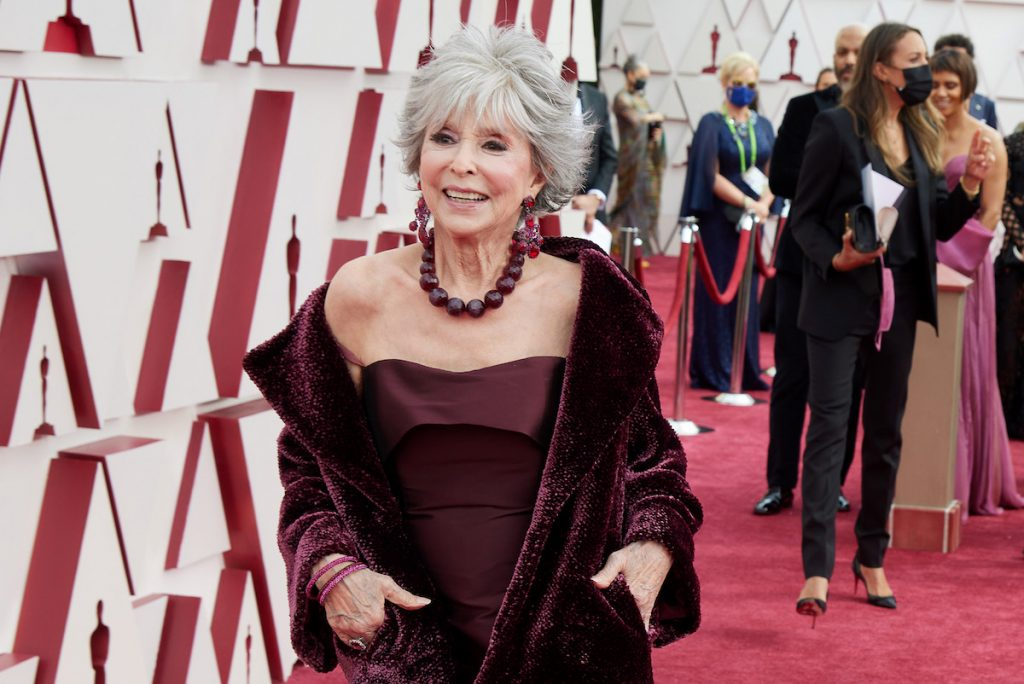 Rita Moreno arrives on the red carpet of The 93rd Oscars® at Union Station in Los Angeles, CA on Sunday, April 25, 2021.