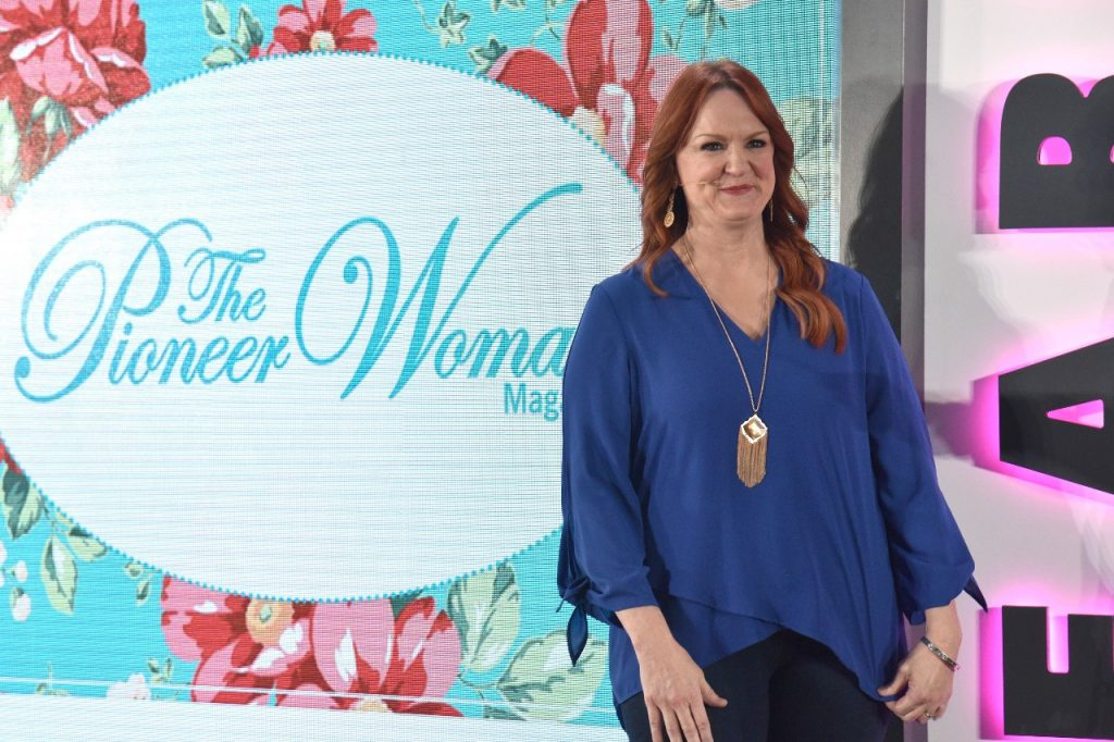 Ree Drummond smiles while in a blue blouse