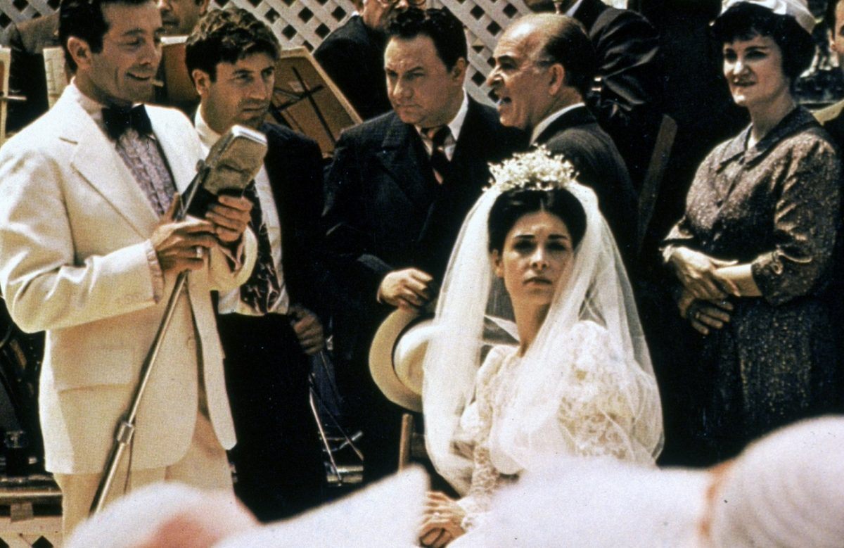 Al Martino sings to Talia Shire at her wedding in a scene from 'The Godfather.'